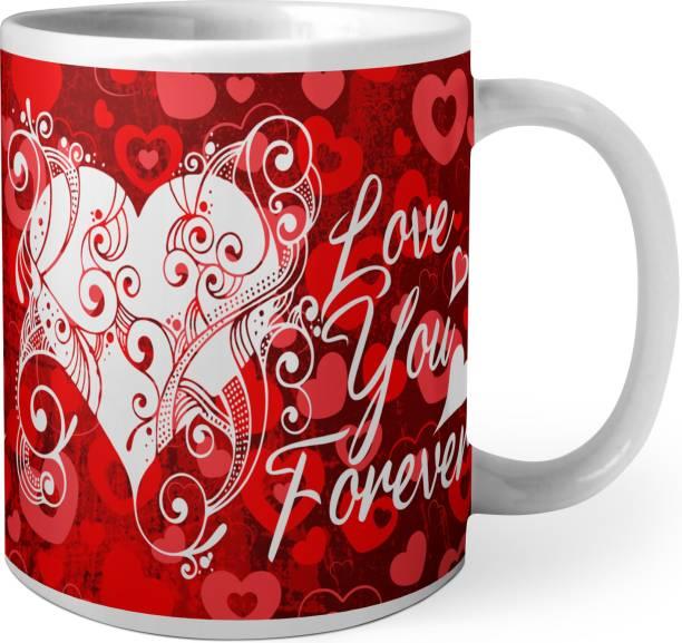 Phirki Studio LOVE U FOREVER Ceramic Coffee Mug