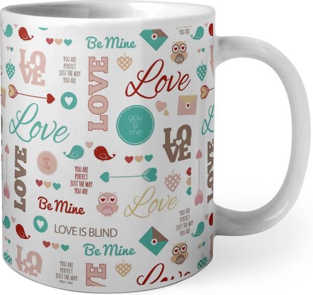 Phirki Studio LOVE WORD CLOUD Ceramic Coffee Mug