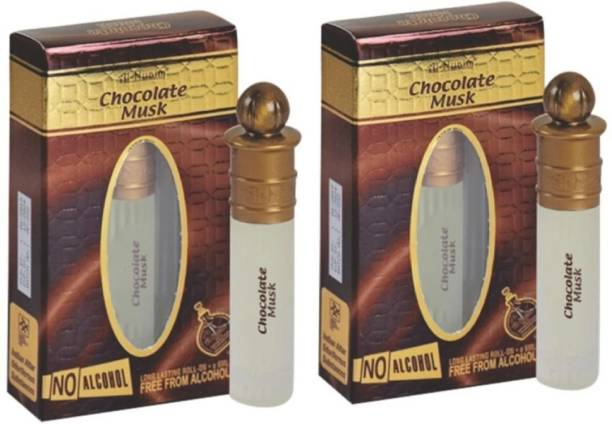 al-nuaim Combo Pack Of 2 Chocolate Musk Perfumes for Men & Women,8 ML Floral Attar