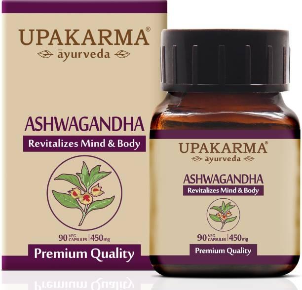 UPAKARMA Ashwagandha Capsule For Strength, Stamina, Power and Immunity - 90 Capsules - Pack of 1 (90)