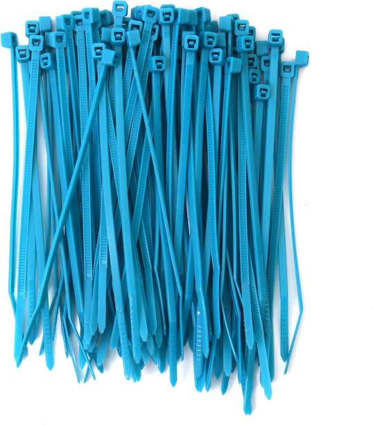 Electronic Spices Pack of 100 Heavy Duty Industrial Grade (Blue) - Self Locking Cable Nylon Zip Ties Nylon Flexible Straps Cable Tie