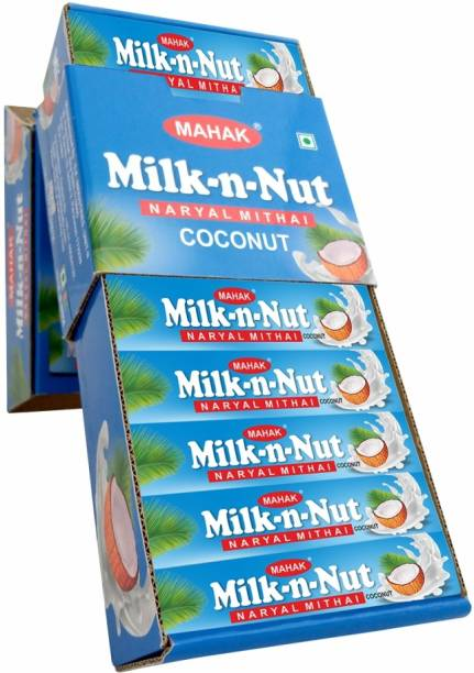 Mahak Milk N Nut Nariyal Mithai Stick Pack of 36 Unit| Coconut Toffee Coconut Candy Sticks