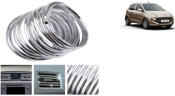 MADMEX AC Vent/Car Edges Chrome Strips Styling Edge Guard Chrome_21 Chrome Hyundai Santro Xing Front Garnish