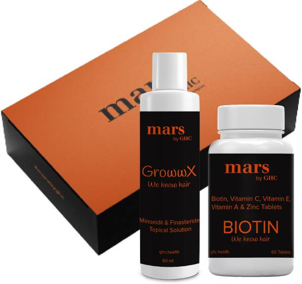 mars by GHC Combo for Hair Growth (5% Serum, Biotin for Hair Growth) | For Healthy & Strong Hair