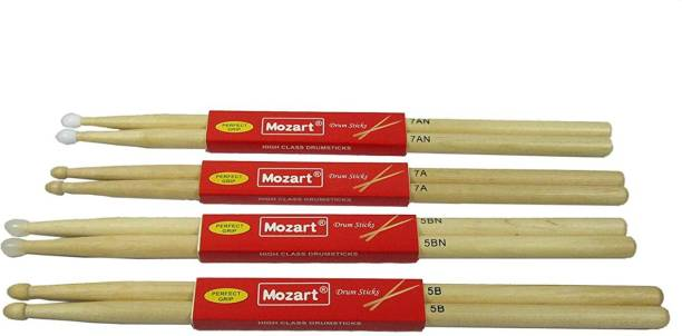 mozart Maple Imported drum stick,5B/5BN/7A/7AN four pairs 5B Drumsticks