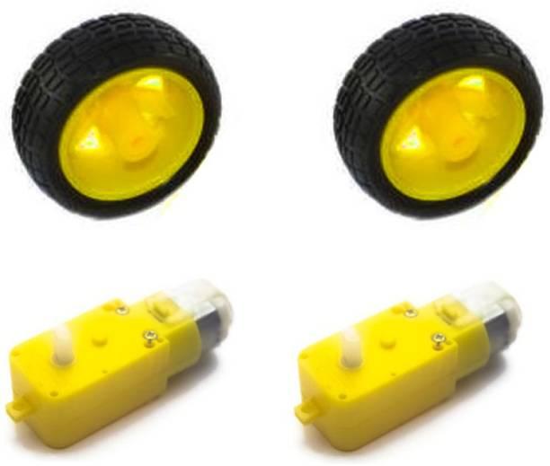 kanyka TT Gear motor whith yellow wheel set of 2 school project kit electronic hobby kit DIY hobby kit Automotive Electronic Hobby Kit