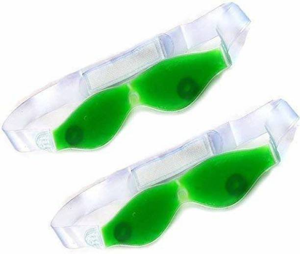 Top Select Aloe Vera Cool Gel Eye Mask Summer Ice Cooling Sleeping Mask for Eye Patches Remove Dark Circles Fatigue Cool Eyes Patch Pads Eye Care(Magenet Eye Mask)Pack 0f 2