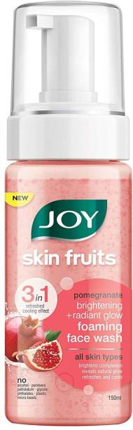 Joy Skin Fruits Pomegranate Brightening+Radiant Glow Foaming Face Wash