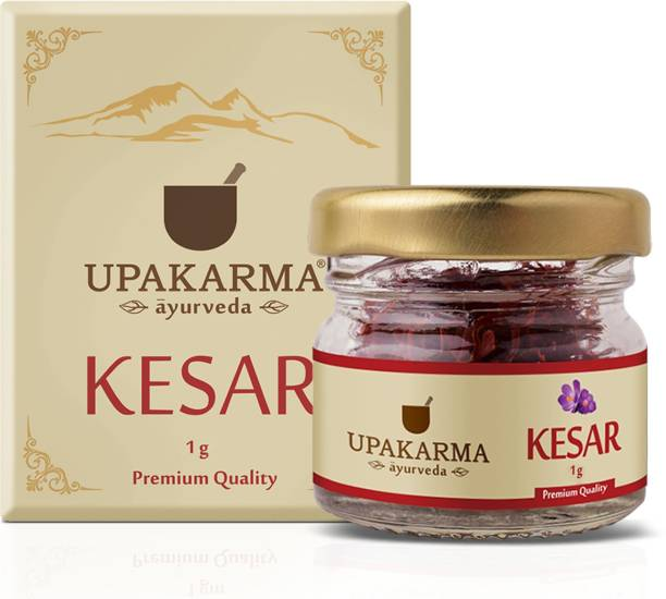 UPAKARMA Certified Natural, Pure and Organic Finest A++ Grade Kashmiri kesar- Saffron 1 Gram (pack of 1)
