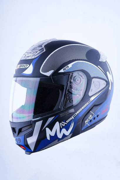 HEADFOX HY SMART BLUETOOTH H3 Blue Motorbike Helmet
