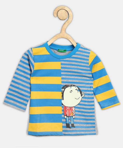 United Colors of Benetton Boys Printed Pure Cotton T Shirt