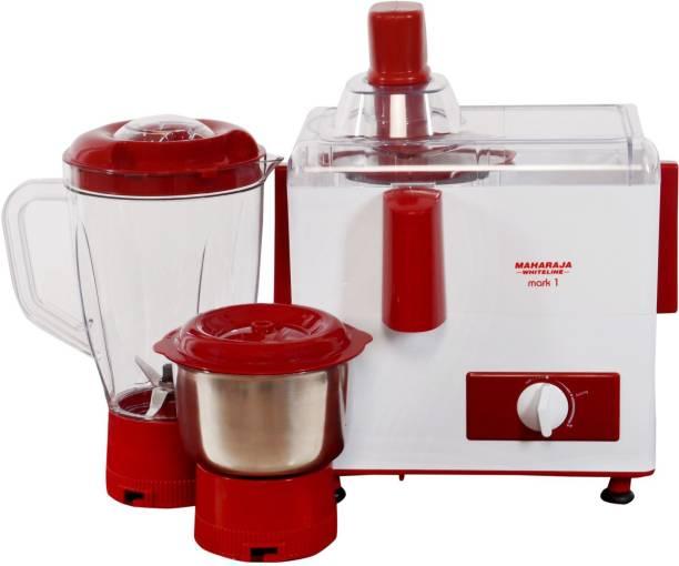 MAHARAJA WHITELINE by MAHARAJA WHITELINE Mark-1 450 W Juicer Mixer Grinder (2 Jars, Red, White)