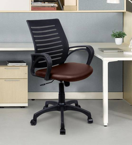 Flipkart Perfect Homes X10 Leatherette Office Arm Chair
