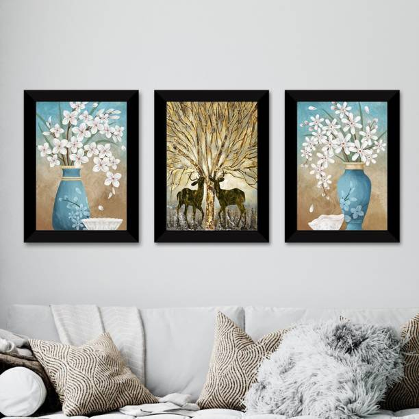 E Deals Set of 3 Framed Poster |Wall Painting For Home, Living Room ,Bedroom| Wall Decoratives. Digital Reprint 14 inch x 11 inch Painting