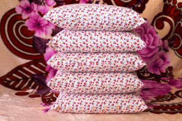 STARHUB PRINTED FLOWER SERIES Polyester Fibre Floral Sleeping Pillow Pack of 5