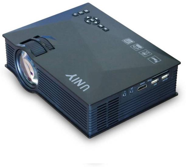 UNIY UY 46 Wireless Display ( AirPlay and MiraCast ) Connect HDMI , USB ,SD ,AV and VGA 1800 lm LED WiFi Portable Projector