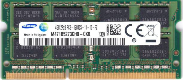 SAMSUNG M471B5273CH0-CK0 DDR3 4 GB Laptop (4GB DDR3 PC3-12800 1600MHz SODIMM CL11 204pin Chip Notebook Memory)