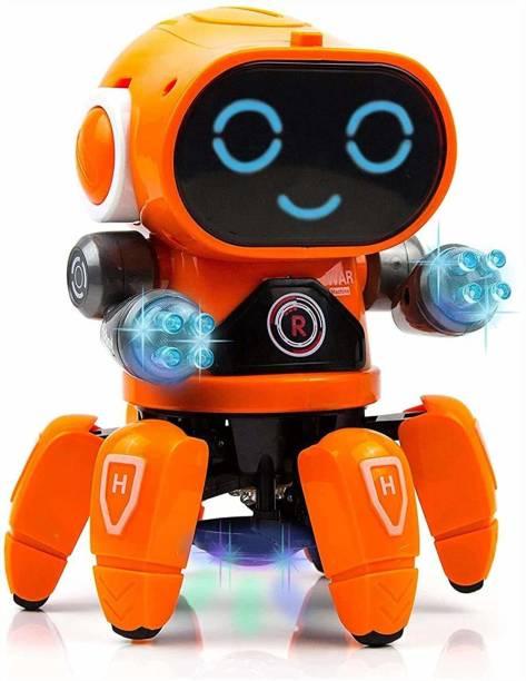 FYG ENTERPRISE Musical Dancing Robot Car Toys for Kids   Robot with Music, 3D Flashing Lights, Dancing Naughty Robot for Kids Boys & Girls (MUSICAL DANCING ROBOT)