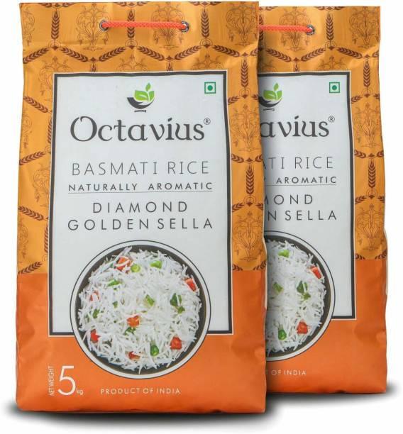 Octavius Diamond Golden Sella Rice Yellow Basmati Rice (Long Grain, Parboiled)
