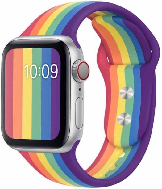 Spinzzy Apple iWatch Band 42mm, 44mm Soft Stylish Rainbow (Mullti Color) Lightweight Material For iWatch Series 6/5/4/3/2/1/SE Smart Watch Strap  Smart Watch Strap