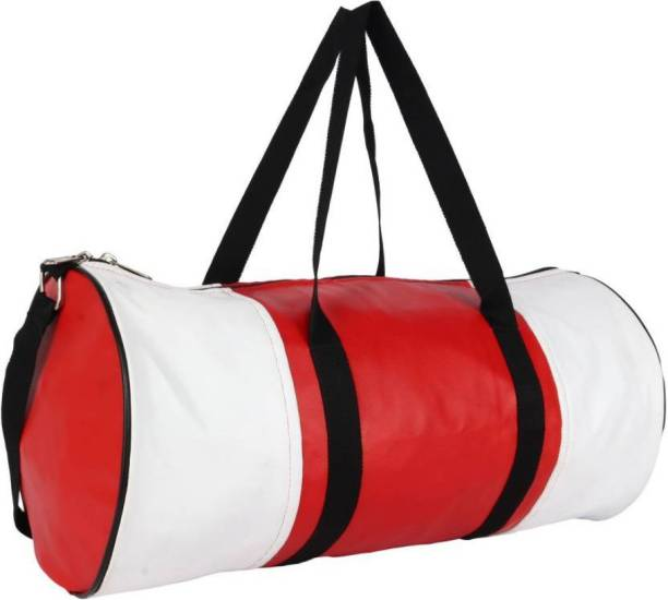 TRUE 2 F White and red (multicolour) gymbag for men and women (ideal for boys and girls)