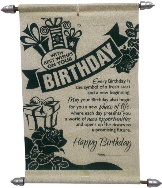 Saugat Traders Saugat Traders Birthday Scroll Card , Birthday Greeting Card Greeting Card