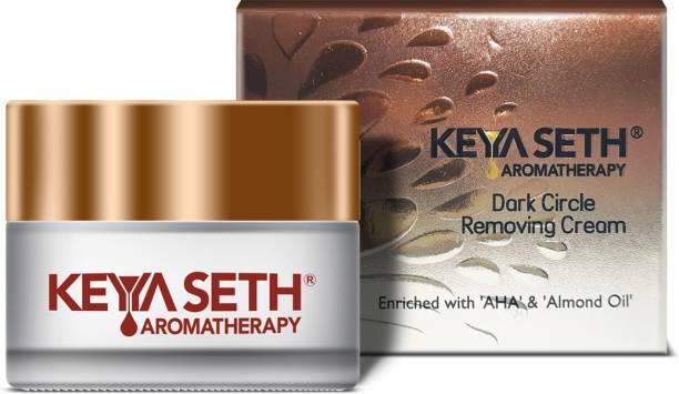 KEYA SETH AROMATHERAPY Dark Circle Removing Under Eye Cream-Vitamin C, Niacinamide, Alpha Arbutin & AHA Reduces Wrinkles, Fine lines, Dullness & Depuffing for Men & Women