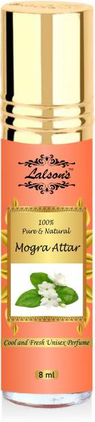 Lalson's Mogra Attar Perfume For Unisex - Pure Natural Undiluted  Non - Alcoholic  8 ml Herbal Attar Herbal Attar