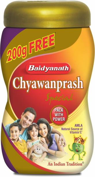 Baidyanath Chyawanprash Special | Ayurvedic Immunity Booster | for Adults and Elders, Builds Energy, Strength and Stamina | 200 Gram Extra with
