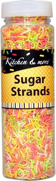 CCDS Toppings Rainbow Fancy Sugar Strands (Cake Decoration) 125 grams Dragees