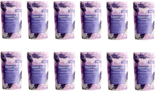 NEER Lavender Epsom Salt (Magnesium Sulphate) For Softening Dry Skin ,Bathing, Relaxing Foot and Pain Relief Therapeutic Spa Treatment , Its use as an exfoliating scrub and a natural everyday remedy for soothing tired and aching muscles , use for Speed Up Plant Growth