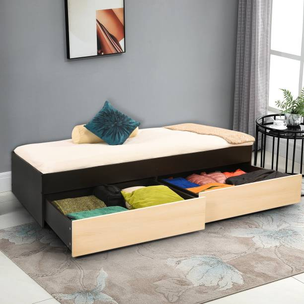 Forzza George Engineered Wood Single Drawer Bed
