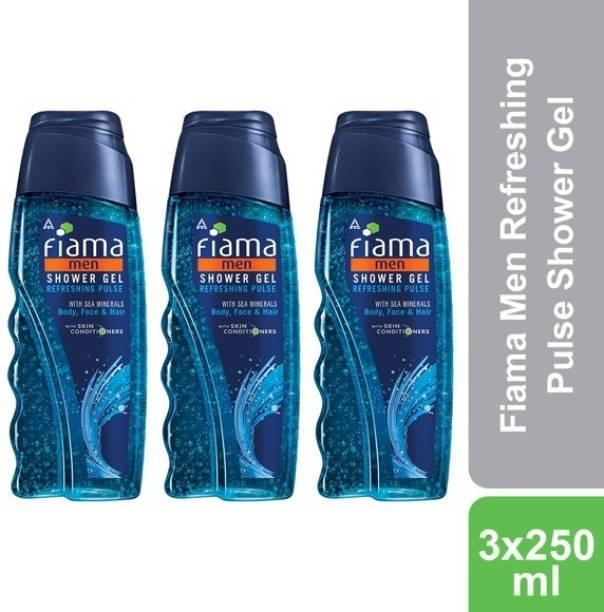 FIAMA Men Refreshing Pulse Shower Gel, Pack of 3