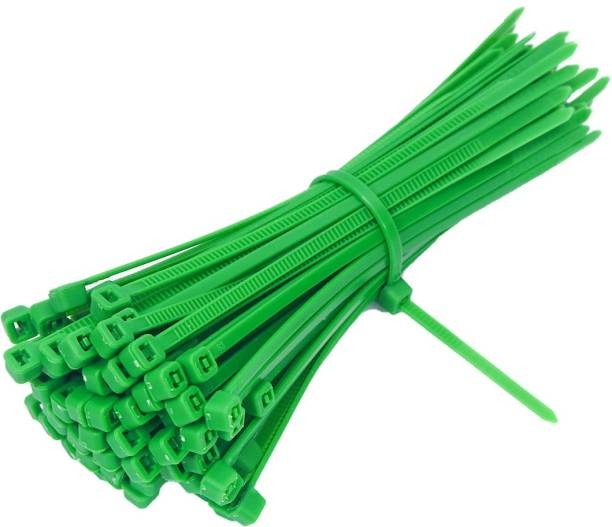 Electronic Spices (2.5mmX100mm) Green Pack of 100 Heavy Duty Industrial Grade - Self Locking Cable Zip Ties Plastic Standard Cable Tie
