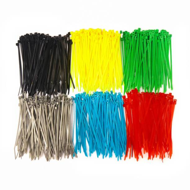 Electronic Spices Pack of 120 (2.5mmX100mm) multicoloured high qaulity multifunction wrapping nylon 66 ties (each colour 20pcs) Plastic Standard Cable Tie