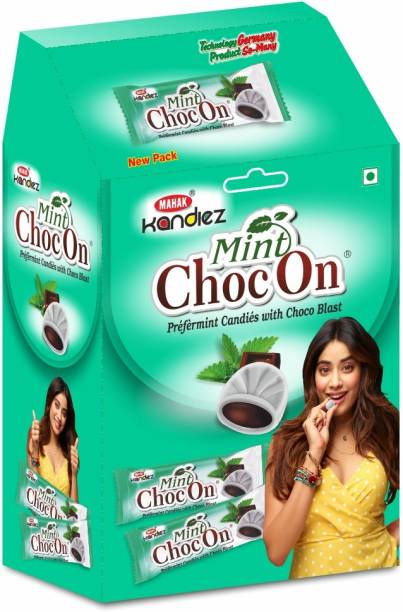 Mahak Mint Candy Pack of 60 PC | Mint ChocOn Dispencer Box Mint Candy