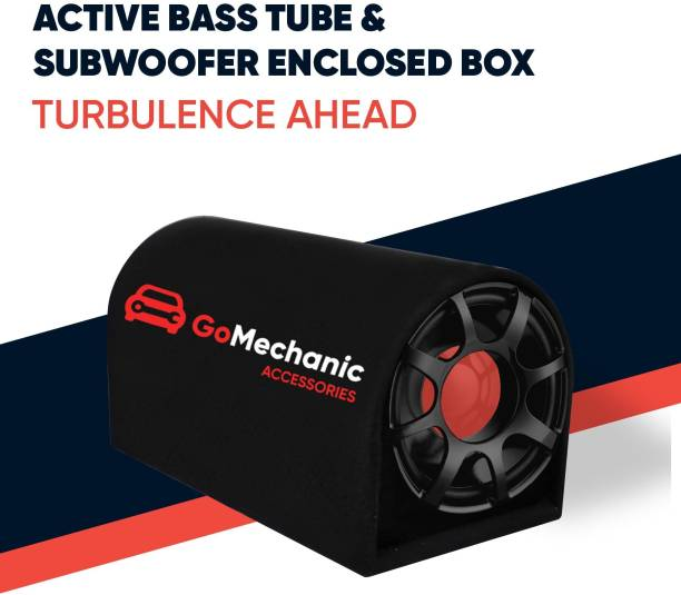 """GoMechanic RESONAR-R1 8"""" Active Basstube with In-Built Amplifier & 1 Year Warranty 3200W/300 RMS High O/P for Crystal Clean Low Frequency Bass Response for Vehicles (Sub-woofer with D Shape Enclosure) Resonar-R1 Subwoofer"""