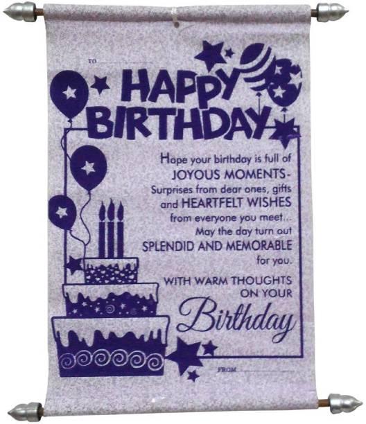 Natali Traders Birthday Scroll Card - Greeting Card
