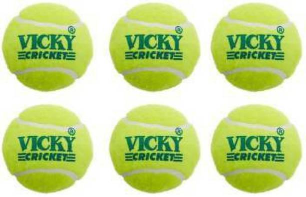 Vicky Light Cricket Tennis Ball (Pack of 6) Standard Bail