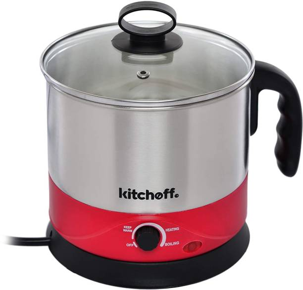 kitchoff WDF-151 Automatic Stainless Steel Electric Kettle Heavy Body Extra Large Cattle with Handle Electric Kettle