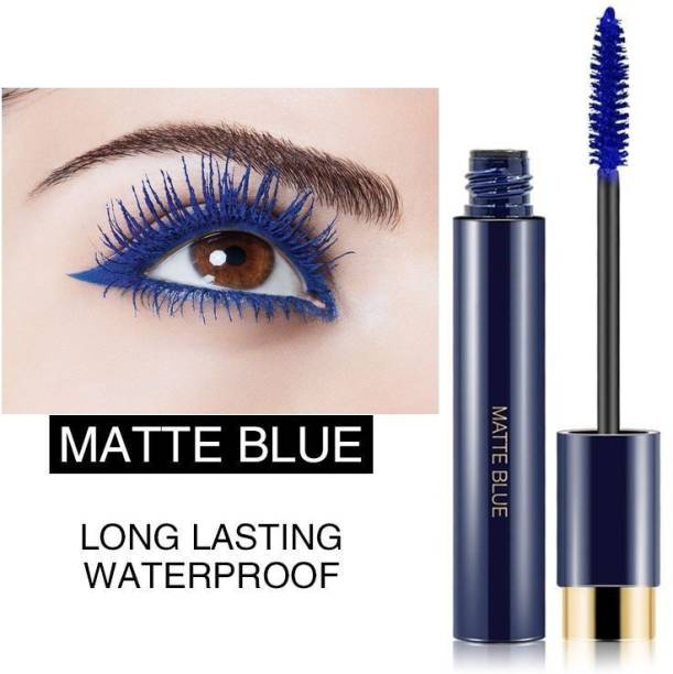 GULGLOW99 Matte Blue Mascara Long Lasting WaterProof for Instant Volume & Glossy Looks, Lash Curler for Instant Volume 10 ml