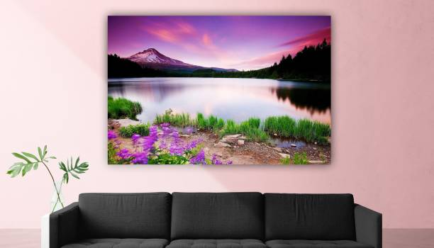 Craftsfest Scenery (Nature) Sparkle Coated Self Adhesive Wallpaper Without Frame Digital Reprint 24 inch x 36 inch Painting