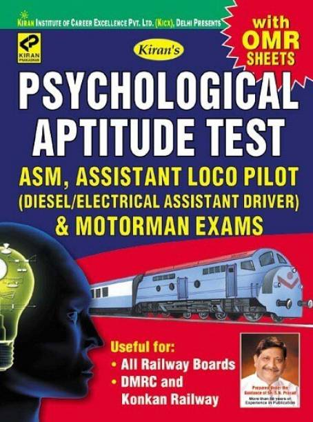 Kiran Psychological Aptitude Test ASM Assistant Loco Pilot And Motorman Exams (With OMR Sheets) (English Medium) (3255)
