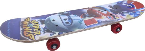 Optimus Planes Wooden Skateboard (Large) For 6 Yrs to 14 Yrs Kids-Design Color May Vary 6 inch x 24 inch Skateboard