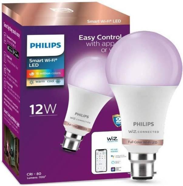 PHILIPS Smart Wi-Fi LED Bulb B22 12-Watt WiZ Connected Smart Bulb