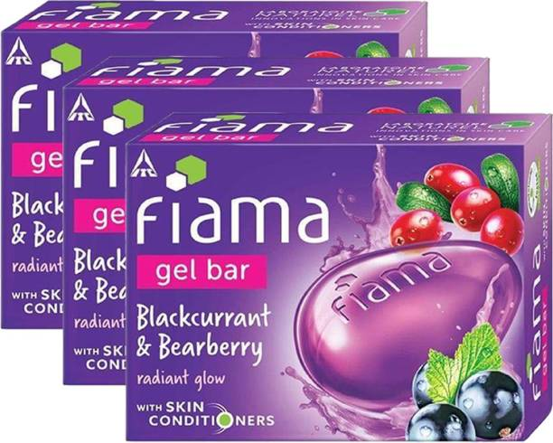 FIAMA Blackcurrant And Bearberry Gel Bar 125gm Pack Of 3