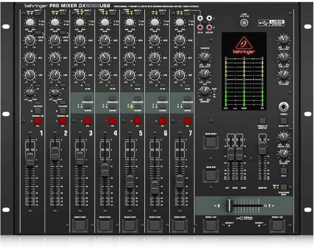 "Behringer DX2000USB Professional 7-Channel DJ Mixer with infinium""Contact-Free"" VCA Crossfader, USB/Audio Interface and Massive Software Bundle Digital Sound Mixer"