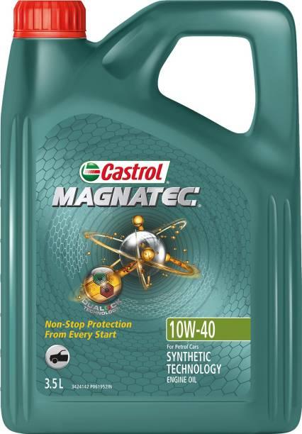Castrol MAGNATEC 10W-40 API SN Part-Synthetic Engine Oil for Petrol Cars (3.5 L) Full-Synthetic Engine Oil