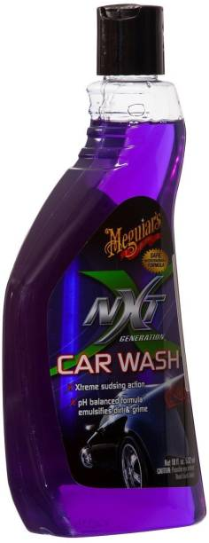 3M Meguiar's Nxt Generation Car Wash pH balanced rich lather Shampoo with water softeners for spot free finish, 532 ml Car Washing Liquid