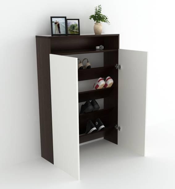 BLUEWUD Whartin Engineered Wood Bar Cabinet
